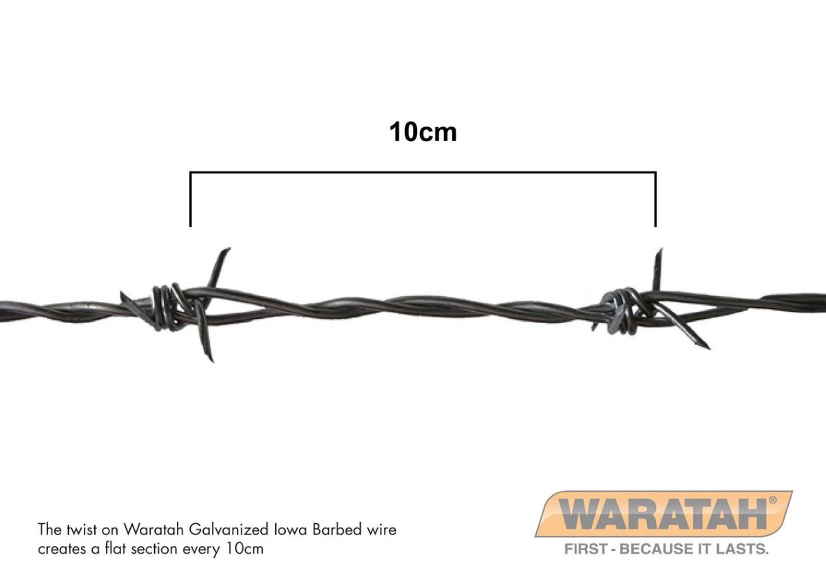 Galvanized Iowa Barbed Wire | Waratah Barbed wire