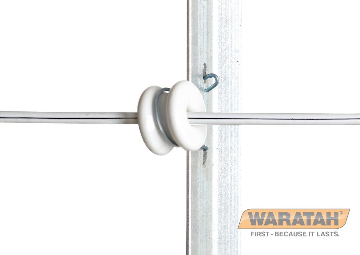 Porcelain Jio Clip Insulator | Waratah Fencing accessories