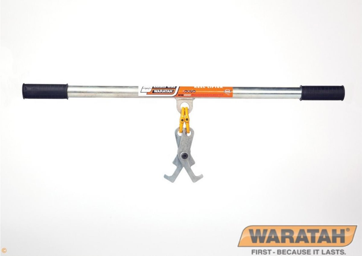 Barbed wire reel lifter | Waratah Fencing tools