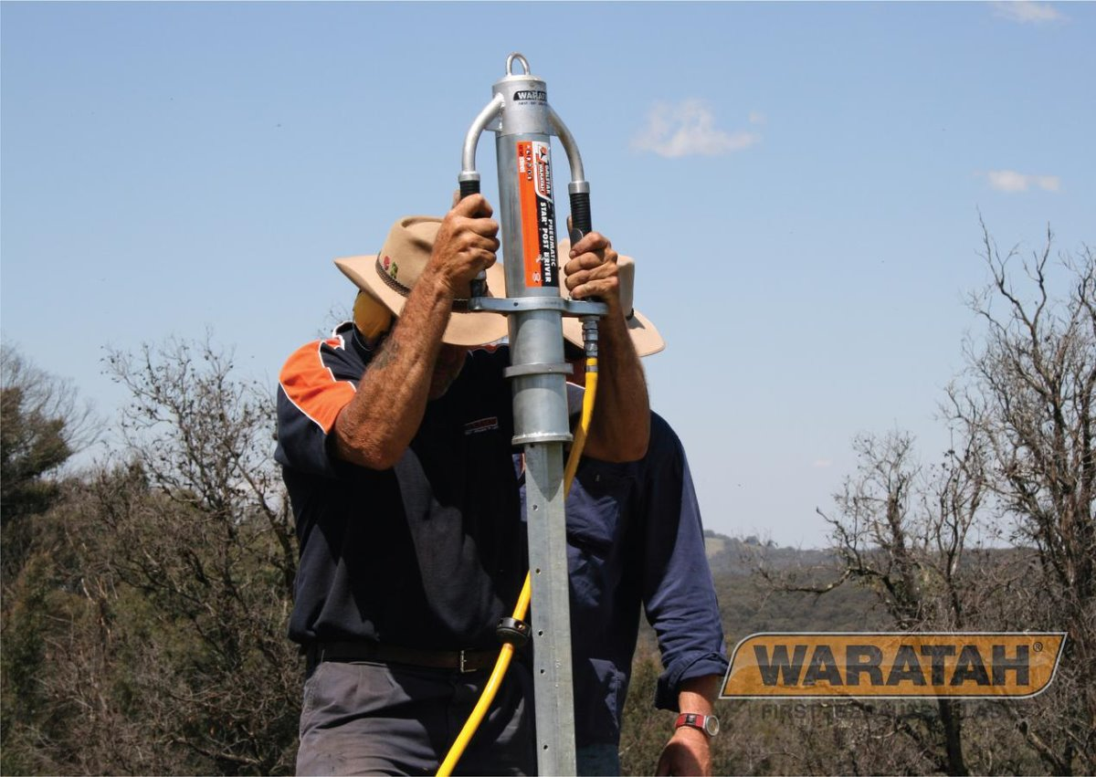 Thumpa pneumatic post driver | Waratah fencing tools