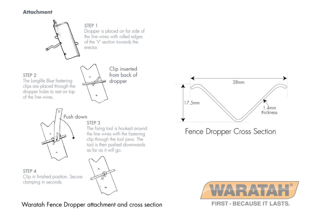 Fence Droppers And Dropper Clips Waratah Fencing